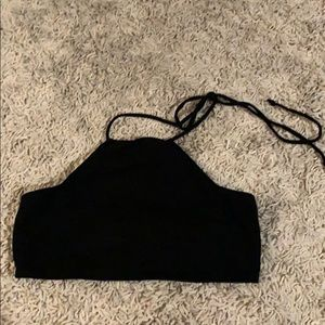 Urban Outfitters black halter crop top